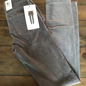 New Calvin Klein Women's corduroy pants stone gray